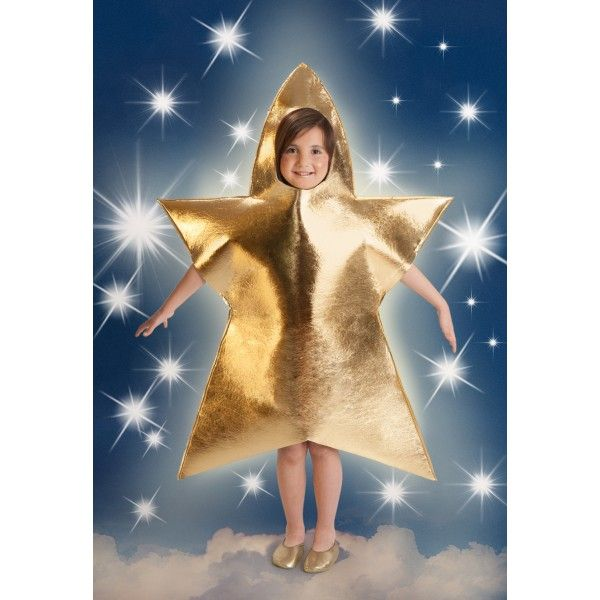 Disfraz Estrella Navidad Dorada