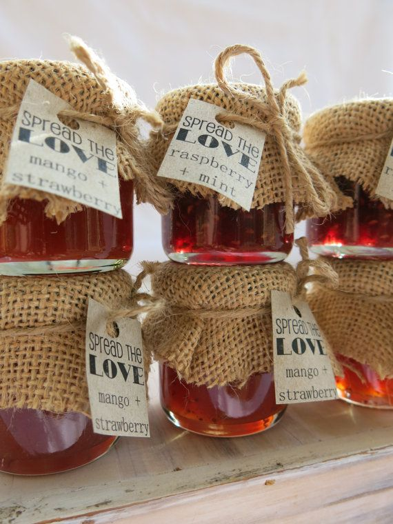 Mini Jam & Honey Jar Wedding Favours / by LittleBowThief on Etsy
