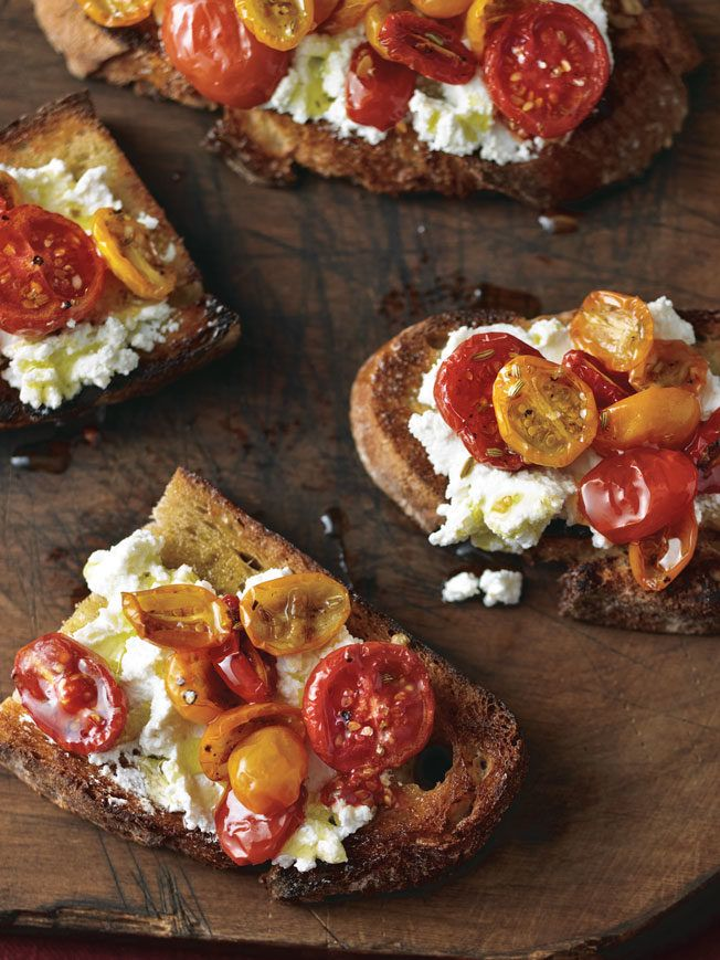 Caramelized Tomato and Ricotta Bruschetta | recipe from Williams Sonoma Taste