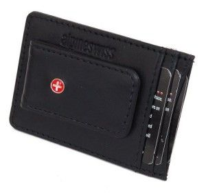 Genuine leather money clip wallet. It manages to squeeze all of the expected features into compact and convenient package. Perfect for the man who prefers to travel light. #Wallet #Money Clip #Leather