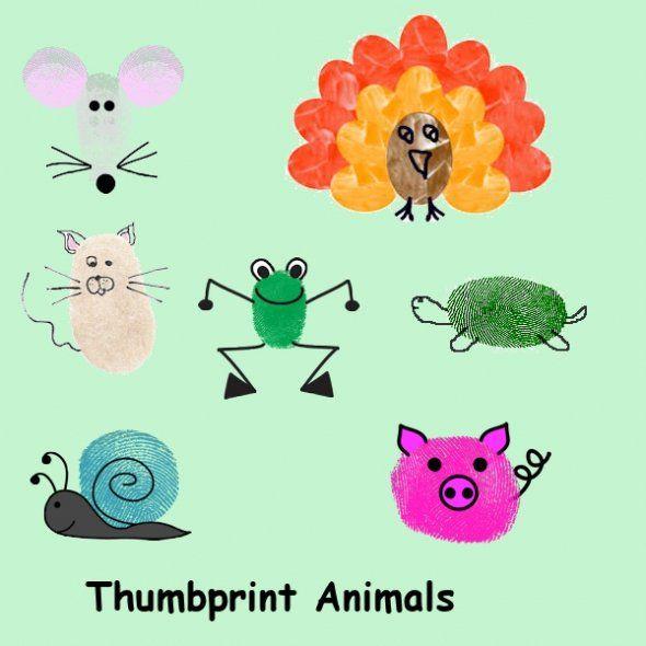thumbprint art- love it!