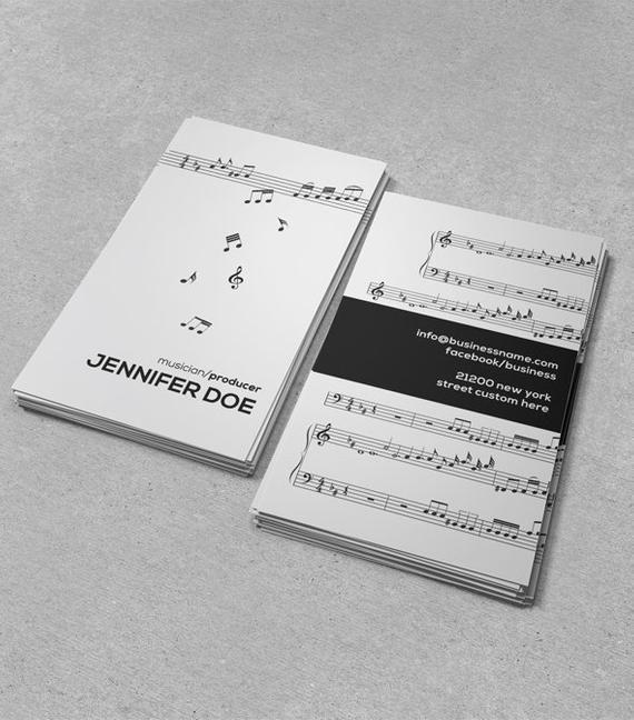 Stylish Modern Music Business Card Musicsinger Business