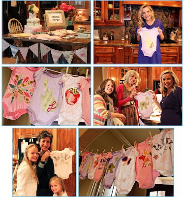 onesie party with printables and applique templates: Onesie Baby, Baby Shower Ideas, Baby Ideas, Diy Onesie, Onesie Decorating, Onesie Parties, Parties Ideas, Free Printable, Baby Shower Photo