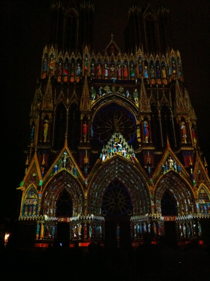 Reims, France  Cathedral Light Show