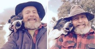 Daughter teaches dad how to take selfies, this is what happens : aww