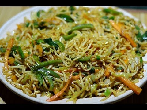 Veg Noodles saute' with cabbage, carrots, capsicum, spring onions, green chillies, mixed along with 4 sauces and seasoned with spices and herbs to offer you ...