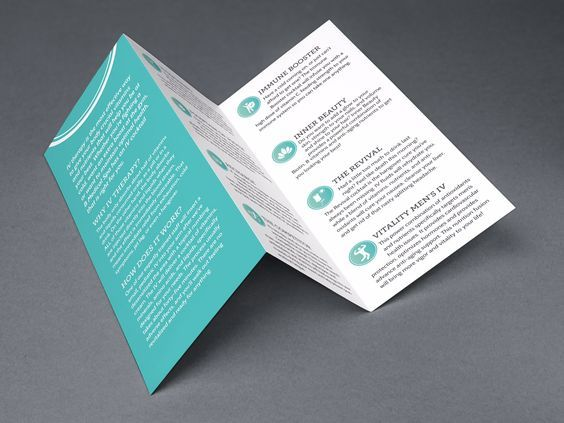 A trifold brochure is a simple yet effective design for a medical brochure.