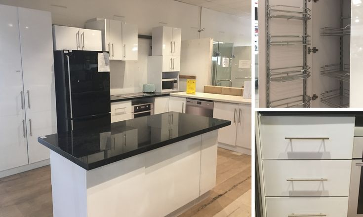 BRAND NEW and ready to install! Maximise storage space with these kitchens which include:  ➡️ B2 L shape with island bar ➡️ Black Galaxy Stone Benchtops ➡️ Soft close drawers ➡️ Lazy Susan in corner cupboard plus loads more features  Online NOW -