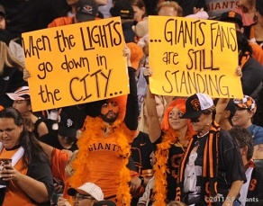 THAT'S ME!! My sister and I are famous!! Woooo!! San Francisco Giants fans are the best!!