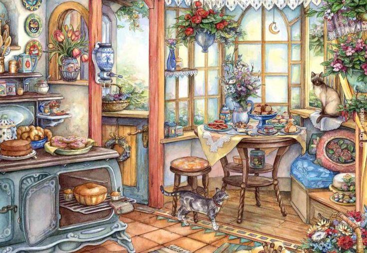 Уютные картины от канадской художницы Kim Jacobs - Ярмарка Мастеров - ручная работа, handmade