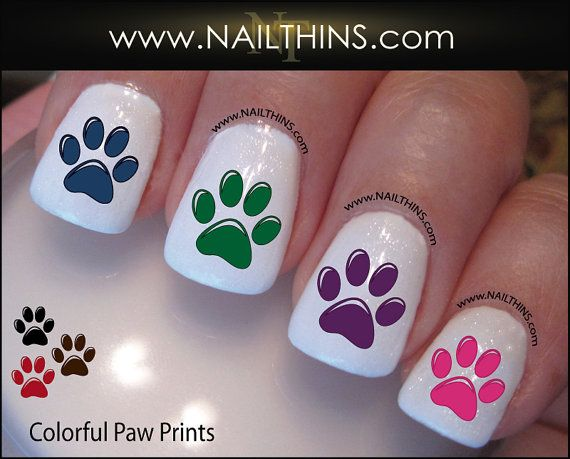 Best 25 paw print nails ideas on pinterest animal nail designs yorkshire terrier nail decal dog 1 yorkshire by nailthins on etsy prinsesfo Image collections