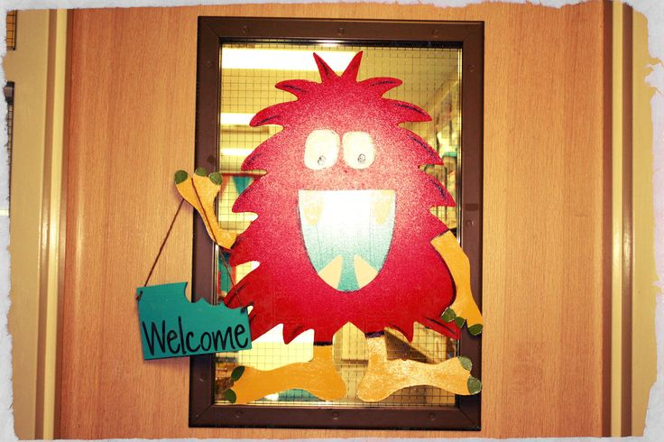 Classroom Welcome Decor : Best images about monster themed classroom on