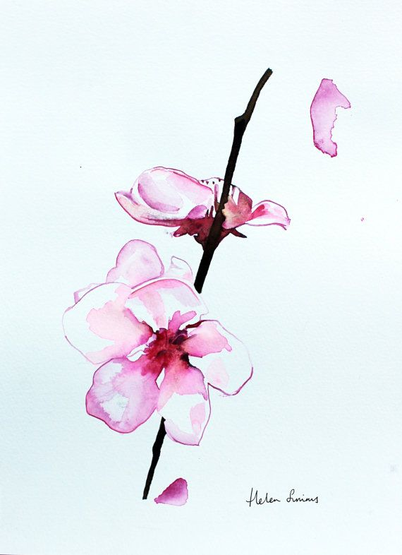 original watercolour orchid flower painting by HelenIllustration, £142.00