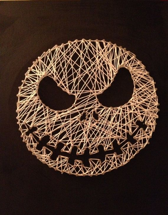 "Nightmare Before Christmas ""Jack"" String Art on Etsy, $50.00"