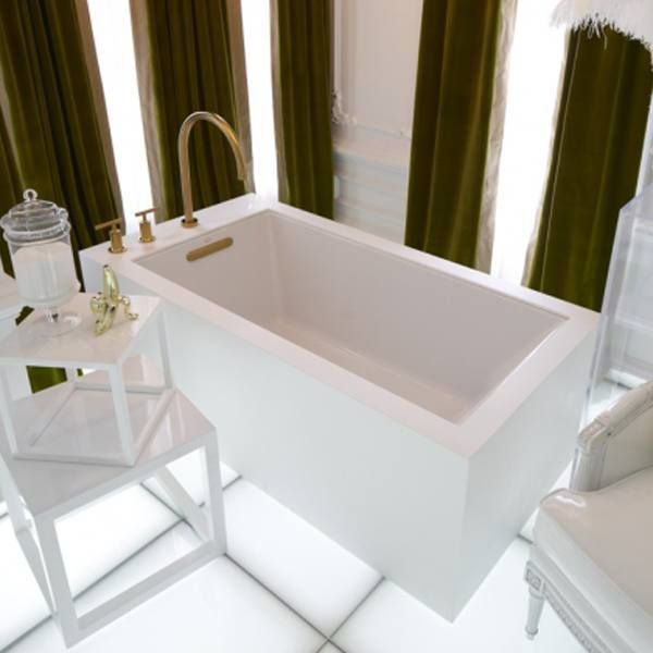 acrylic bathtub free left product skirted tub clarke home garden vision whirlpool