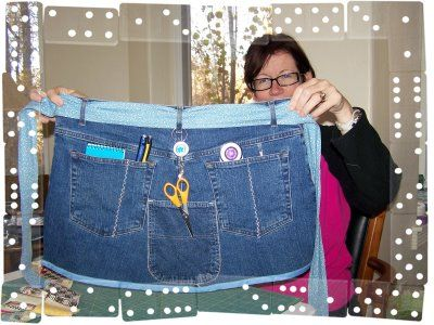 Tuto tablier couture en jean recycle