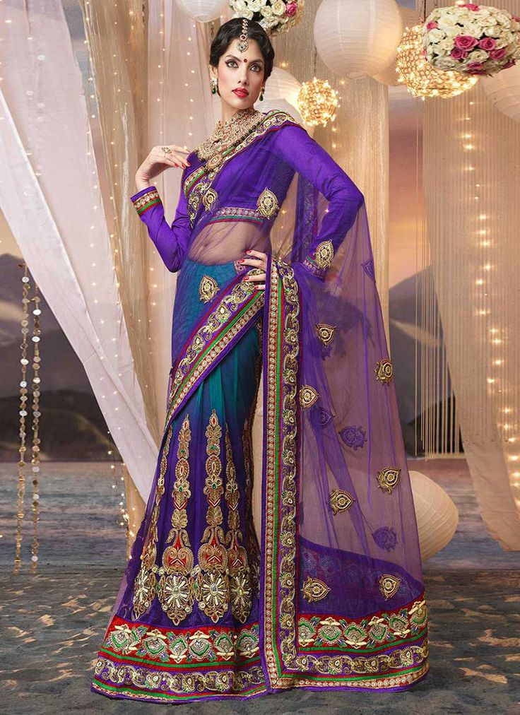 Beautiful Zari Enhanced Net Saree