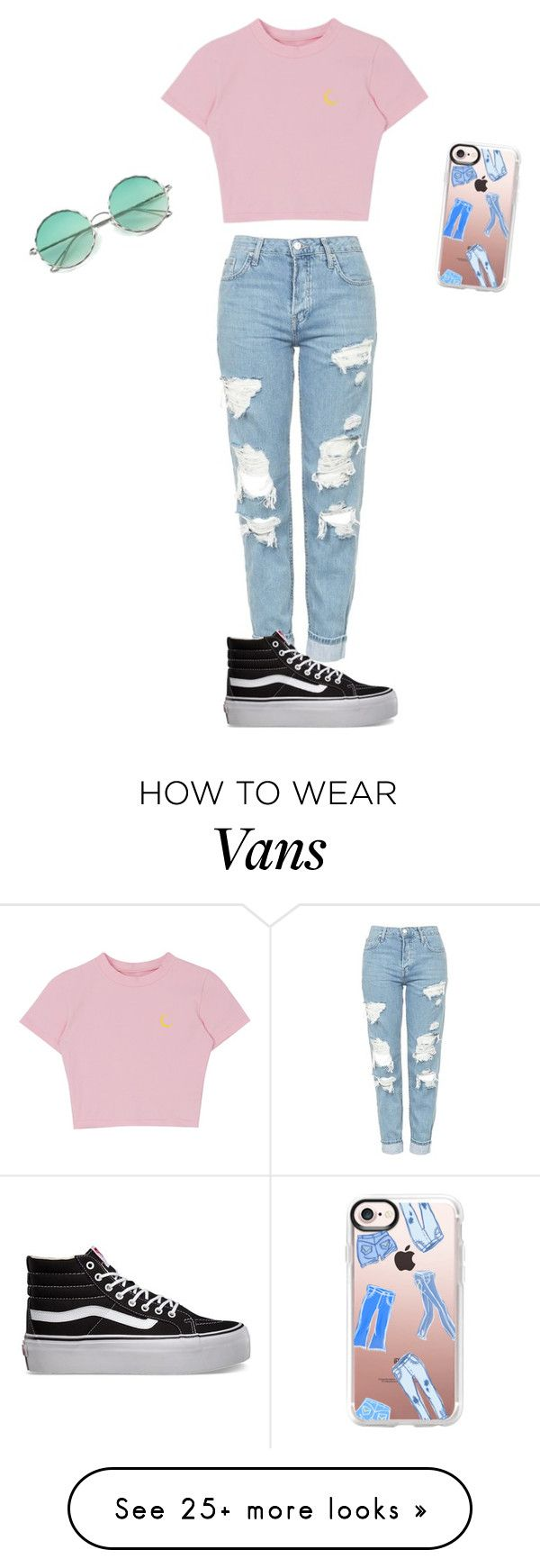 """Untitled #81"" by fashiongirl0116 on Polyvore featuring Topshop, Vans and Casetify"