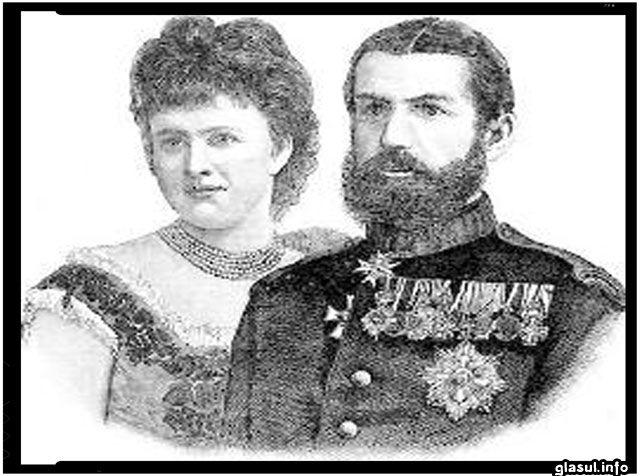 Elisabeta de Wied (Carmen Sylva) împreună cu soţul ei, regele Carol I