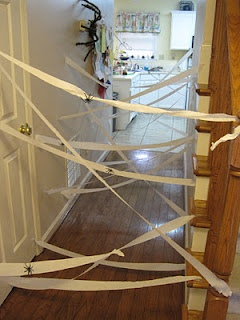 Something to do when it rains.: Spiders, Spider Webs, Baby, Chicken Babies, Party Ideas, Halloween Party, Kid