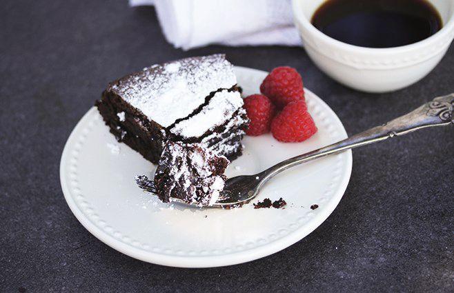 Trøffelkage med chokolade