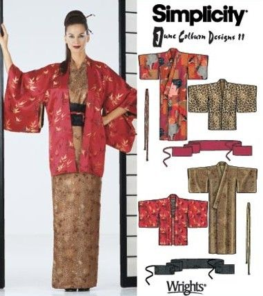 Kimono, Haori, Obi Sewing Pattern UNCUT all sizes XS to XL Simplicity 5839