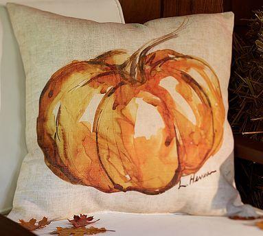 Painted Pumpkin Patch Outdoor Pillow #potterybarn