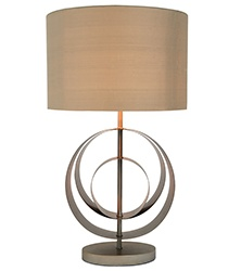 Frederick Lamp Base - In a stunning brushed champagne finish (shade not included) - Bases