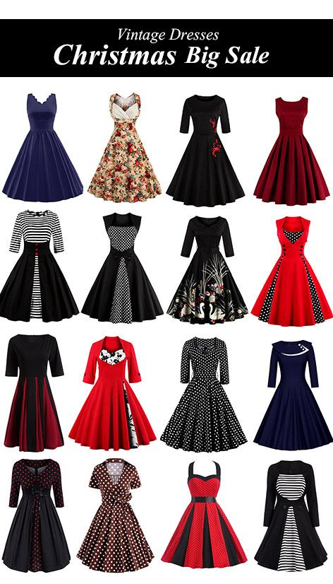 Vintage Dresses-Christmas Big Sale