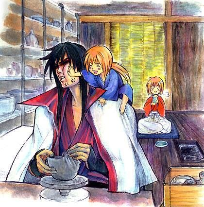 the revenge of kenshin himura to master hiko is not by the use of the sword, but thru his very persistent son, kenji