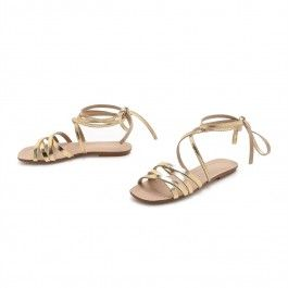 How about this shoe?  Share to get a coupon for all on FSJ Golden Gladiator Sandals Open Toe Comfortable Flats Strappy Shoes