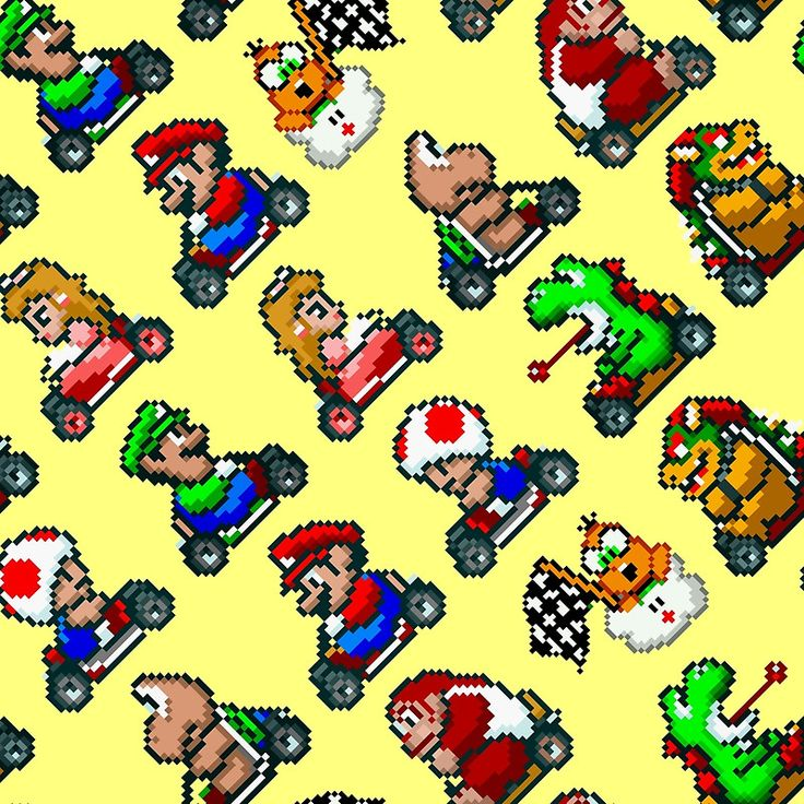 Super Mario Kart pattern