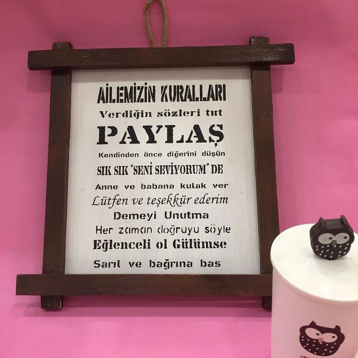 Ahşap çerçeveli aile kuralları 10 tl #mademecoco#sunum#sunumönemlidir#cici#cicibici#pembe#tantitoni#evdekorasyonu#mutfak#kitchen#ferforje#mug#kupa#hediyelikeşya#eskişehirhediyelikeşya#abajur#çeyiz#nişan#silikon#şirinmutfakürünleri#kahve#kahvekeyfi#sikikon#düğün#gift#pasta#cafe#mutfak#mutfakgram#ahsapboyama#banyodekorasyonu | http://ift.tt/2l7nBSO