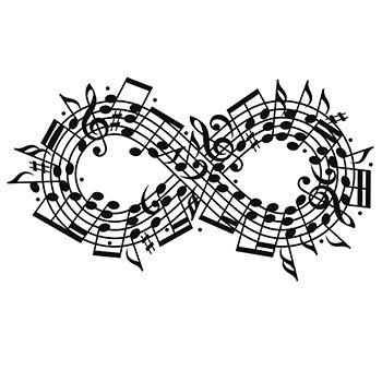 Infinity music tattoo