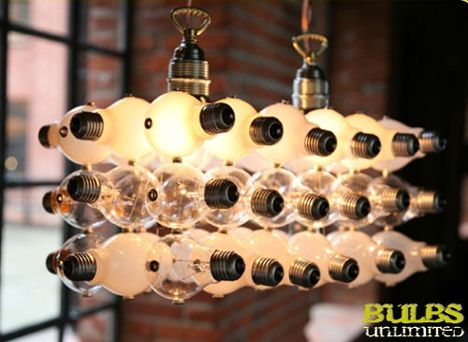 recycled-bulb-lamps...if you follow the link via the photo you can order a kit to make your own!