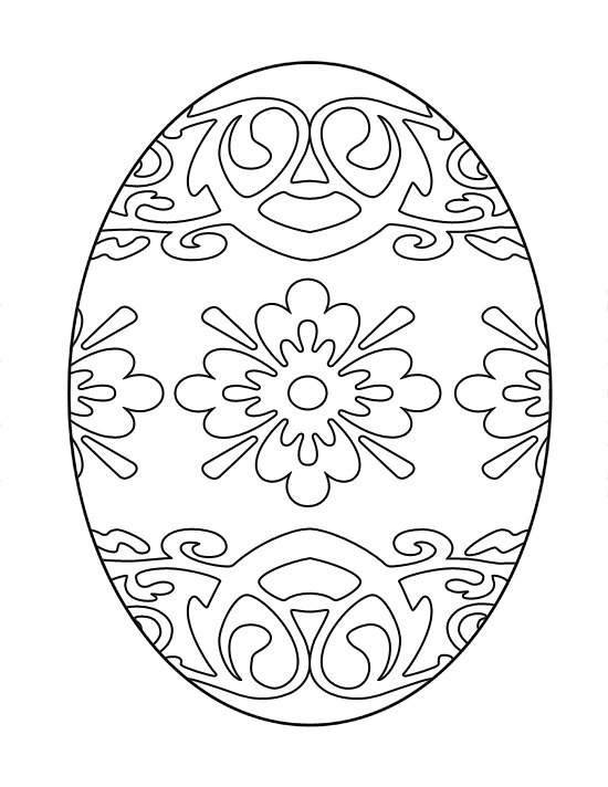 printable easter egg coloring image free 7 different images