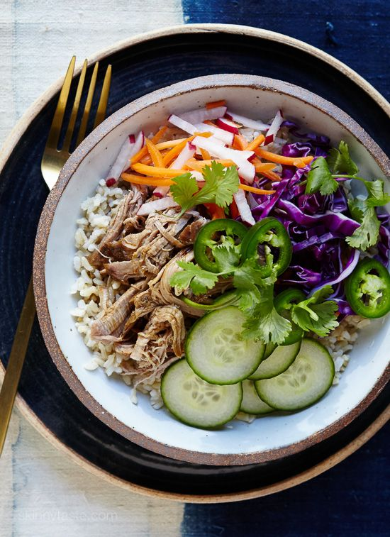Slow-Cooker Banh Mi Rice Bowls   Skinnytaste