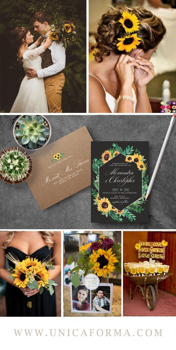 Sunflower wedding Wedding guest gift Fall wedding Country