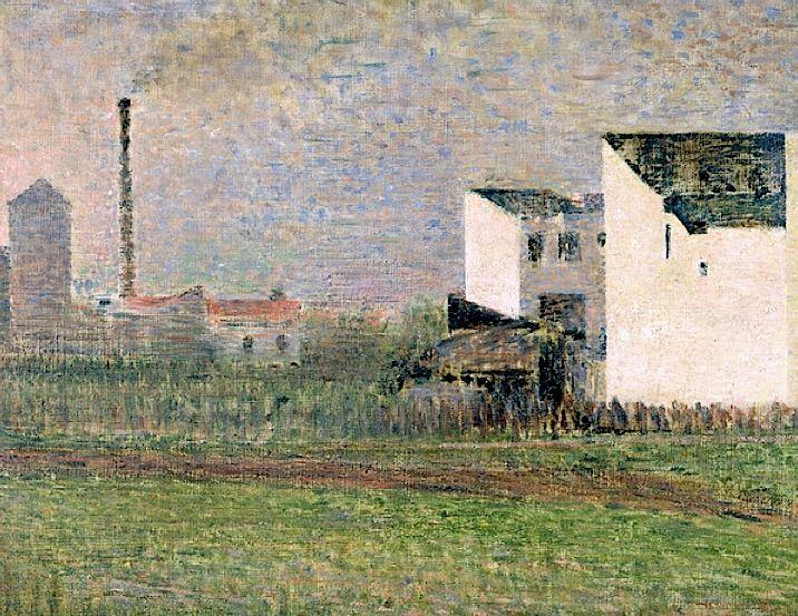 Suburb, c.1882 (oil on canvas), Seurat, Georges (1859-91)