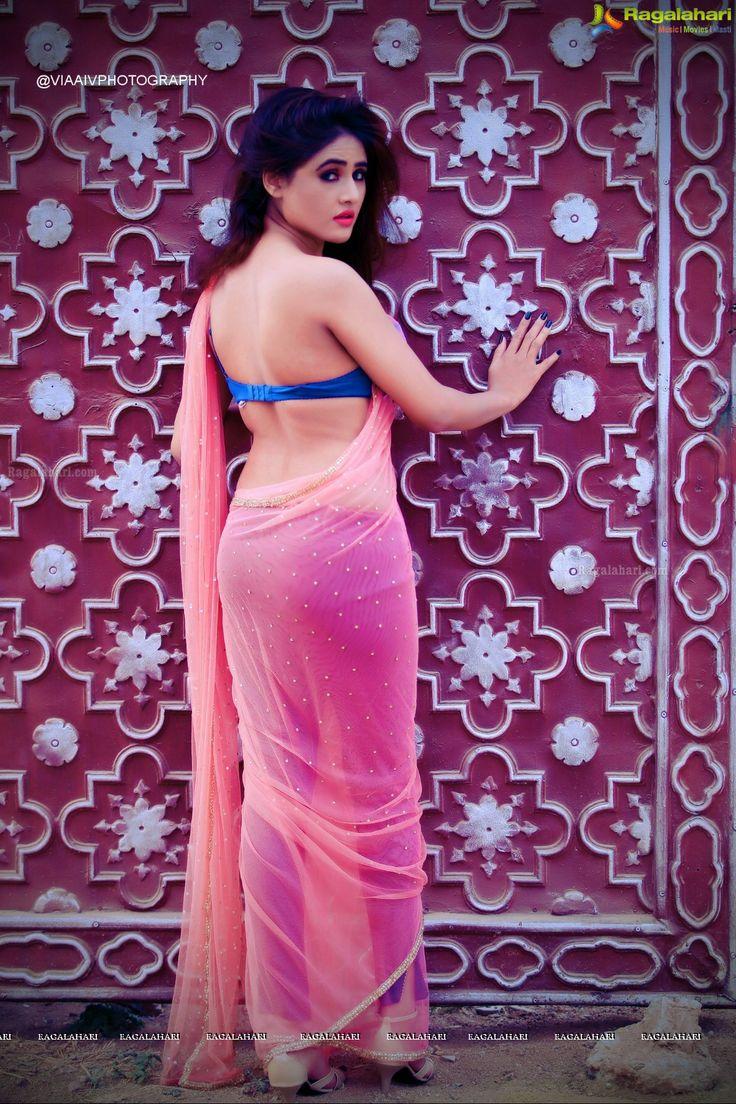 Actress Sony Charishta Glam Stills in Pink Saree