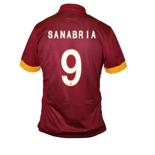 2014/15 Antonio Sanabria 9 Roma Home Soccer Jersey shirt