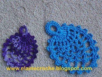 Como Fazer Brincos de Crochê - Prof.ª Elaine