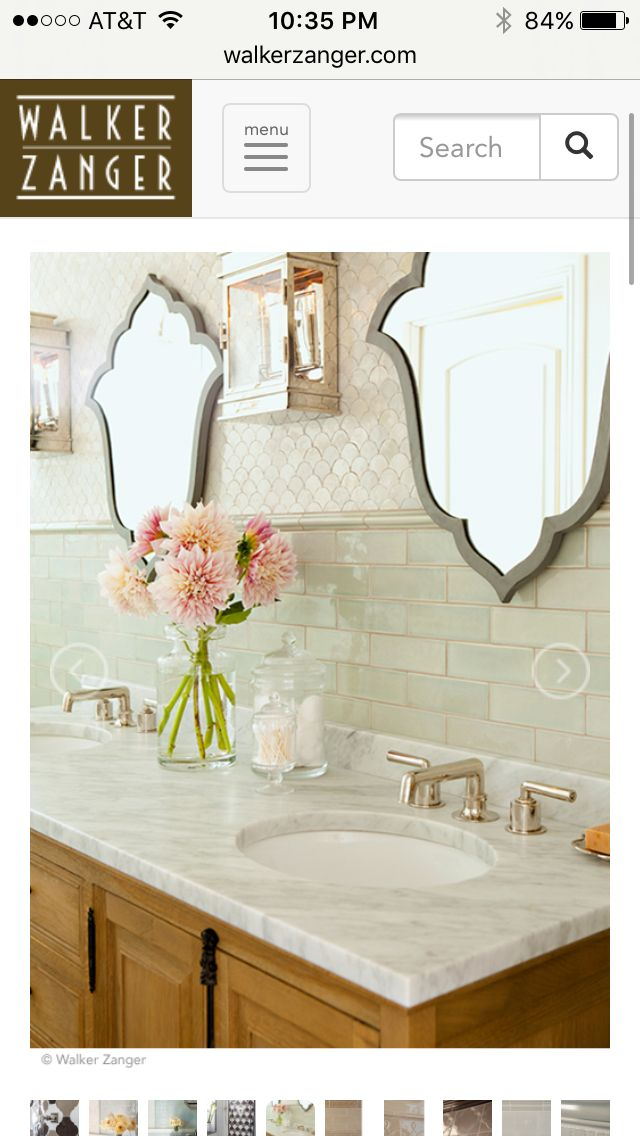 Tile, color of tile with wood vanity