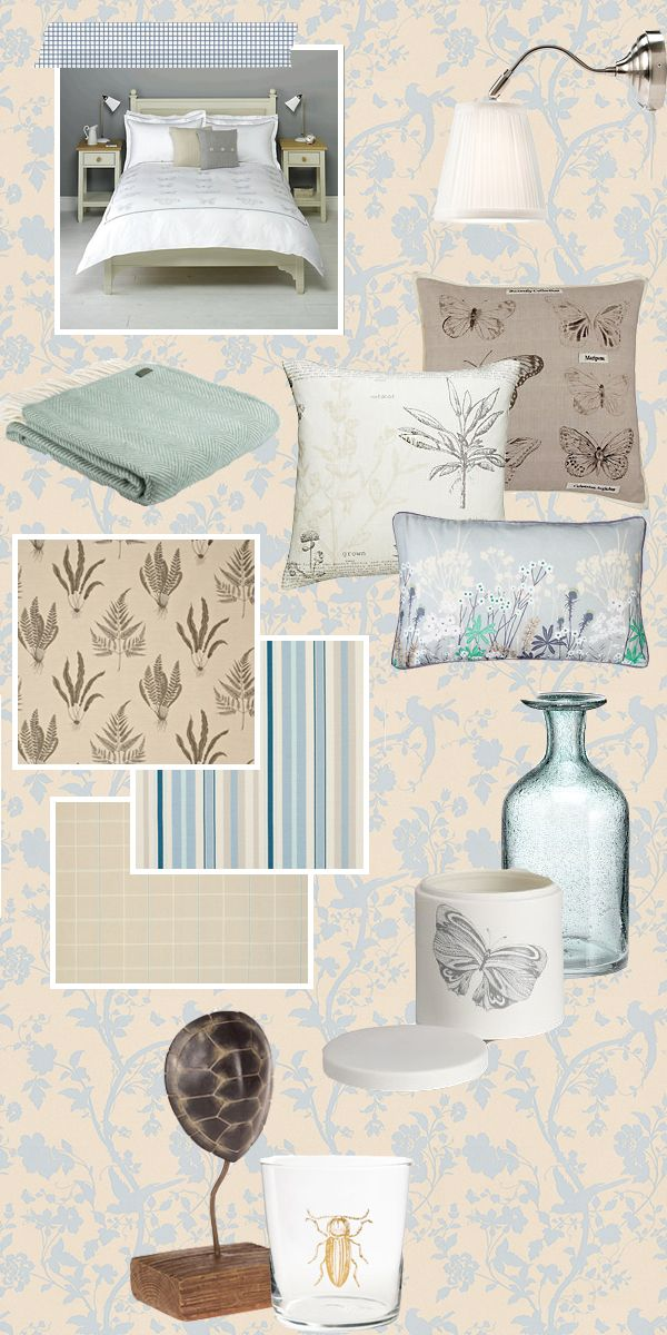 Real Room Re-vamp: Duck Egg and Neutral botanical inspired guest room
