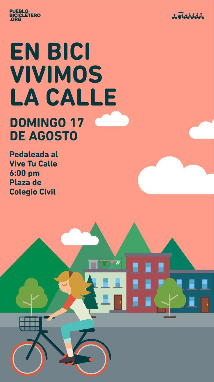 Todo listo para pedalear este domingo 17 de agosto. Daremos una vuelta de 22 km por Monterrey y San Pedro y terminaremos la rodada en el evento Vive Tu Calle, en La Purísima, donde habrá música y varias actividades. Preparen sus bicicletas y vámonos a rodar!  Te esperamos en la explanada de Colegio Civil a las 6:00 pm. Recuerda: BICICLETA EN BUEN ESTADO. www.pueblobicicletero.org/2014/08/enbici_vivimostucalle/