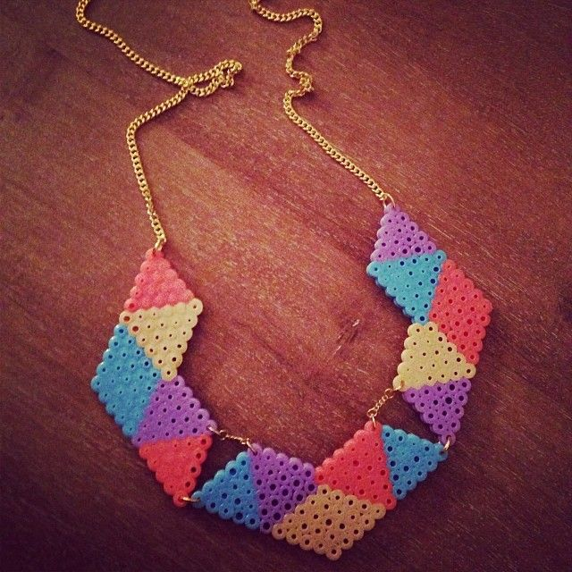 Necklace hama perler beads by mellechef