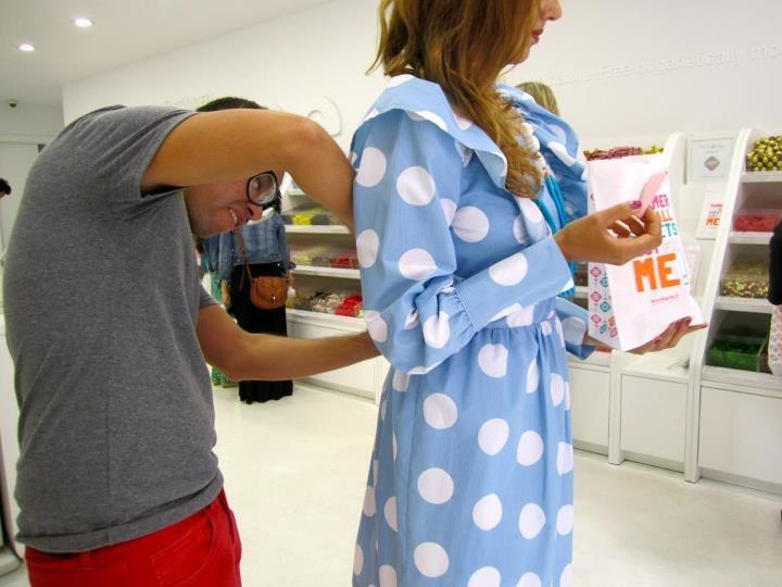 Behind The Scenes of Beto Guzman Abundes' Pop culture Series. Ivana Helsinki photo shoot at Sockerbit Sweet & Swedish    #behindthescenes #editorials #polkadots
