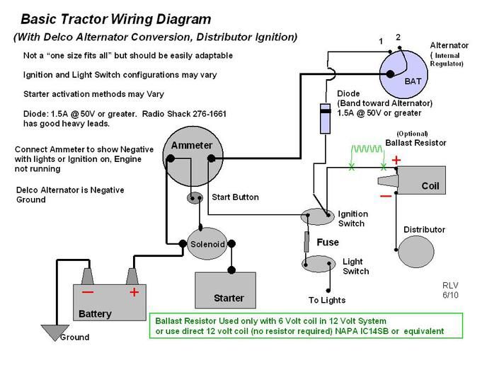 Alternator Wiring Diagram Ford Tractor