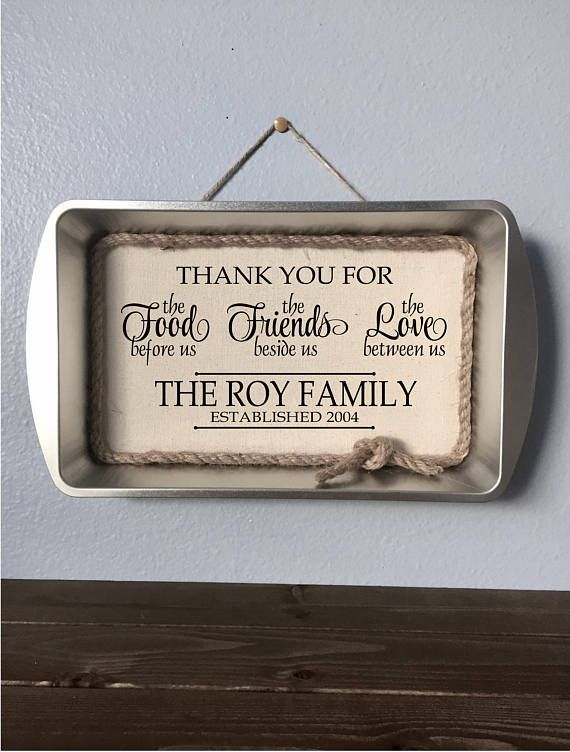 Personalized Kitchen Sign Rustic Farmhouse Decor Thank