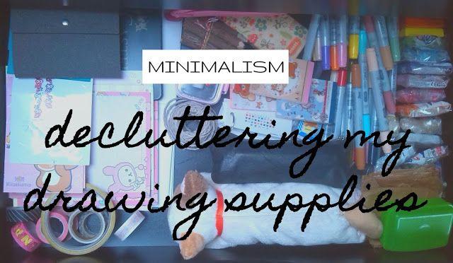 plannedpastel: decluttering my drawing supplies